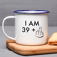 Funny 40th Birthday Gift Enamel Mug For Him For Her