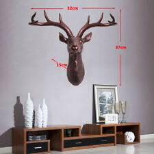 Wall Mounted Stag Deer Head With Antlers Resin Xmas Business Home Decro 3D Art