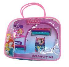 Official Disney Princess Hair Accessory Set - Colourful bands, bobbles & clips