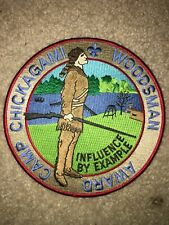 Boy Scout BSA Camp Chickagami Woodsman Western Reserve Council Ohio Jacket Patch