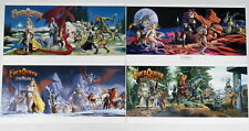 Lot 4 Everquest Keith Parkinson Game Posters 2001 Shadow Luclin Signed Numbered
