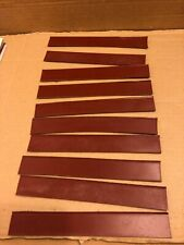 10 x Pieces of Quality Tan / Brown Leather Strips, Approx.18.5cm x 2.5cm