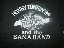 vtg 80 HANK WILLIAMS JR CONCERT T SHIRT Bocephus Bama Band Honky Tonking 1984 SM
