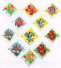 Burundi Flora Flowers 1972 set