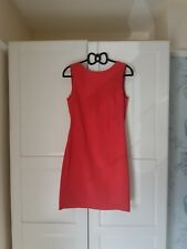 Zara Coral Backless Business Dress, Size Eur M