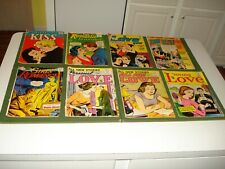 """8- VINTAGE LOVE COMICS LATE 1950""""s/60's, NICE GROUP, 10 AND 12 CENTERS"""
