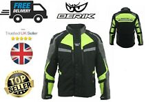 Berik Motorbike Motorcycle HiVis Jacket, CE Approved Armour Cordura Textile
