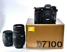 Nikon D7100 24.1MP Digital SLR Camera with 28-90mm + 70-300mm Macro Zoom Lenses