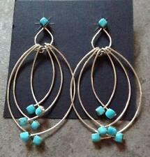 Zuni Sleeping Beauty Turquoise Sterling  Dangle Post Earrings - Farrah Larue