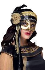 Lujo Mujer Dorado Veneciano Antifaz DISFRAZ AÑOS 20 Baile De Máscaras Máscara