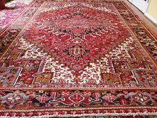 8 x 11.1 Antique Fine Heriz Rug Serapi Vintage Oushak Kazak Caucasian Shirvan