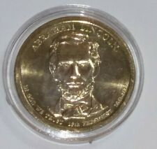 2010 Abraham Lincoln - Presidential Dollar Coin - $1 Coin USD + COIN CAPSULE!