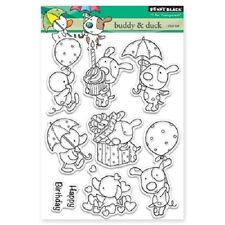 PENNY BLACK RUBBER STAMPS CLEAR BUDDY & DUCK NEW clear STAMP SET