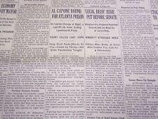 1932 MAY 4 NEW YORK TIMES - AL CAPONE BOUND FOR ATLANTA PRISON - NT 4759