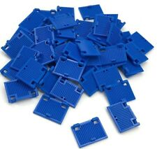 Lego 50 New Blue Windows 1 x 2 x 3 Shutter with Hinges and Handle Pieces