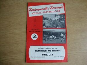 1959/60 Bournemouth v York City - FA Cup 3rd Round
