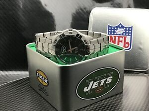 New York Jets NFL Stainless Steel Watch by Fossil NEW (RARE)