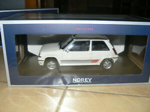 renault 5 r5 super 5 gt turbo phase 2 blanc 1/18 1:18 norev