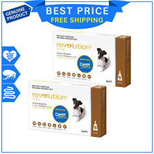 Revolution BROWN for Small Dogs 5.1 to 10 Kg 12 Pipettes + Canex