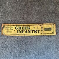 W Britains 171 GREEK INFANTRY  Label ONLY 1st Version, 1913 Beautiful!