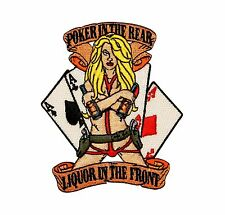 Poker In The Rear Liquor In The Front Embroidered Iron On Applique Patch