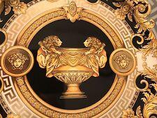 "VERSACE PRESTIGE GALA  SERVICE CHARGER BLACK PLATE gold 12"" MEDUSA NEW SALE"