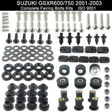 For 2001-2003 Suzuki GSXR600 GSXR750 2002 Motorcycle Kit Body Screws Stainless