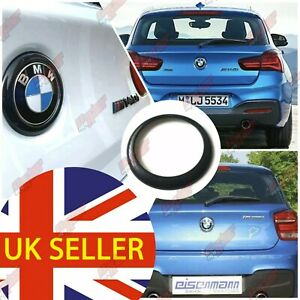 BMW F20 F21 Gloss Black Rear Badge Ring cover 1 series 2011-2019 m140i m135 boot
