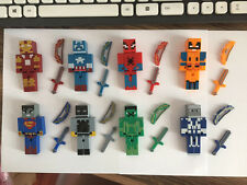 8 Minecraft Marvel Super Hero Figures
