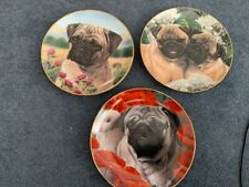 Danbury mint limited ed from collection of pugs by Simon Mendez 3 plates
