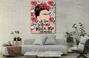 Frida Kahlo Mexican Floral Feminist Poster Wall Art Decor