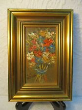 """Tableau  """" Bouquet de Fleurs """" signé L. E. SERRAF"""