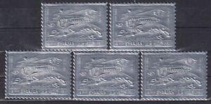 D839. 5x Sharjah - MNH - Space - Spaceships - Silver