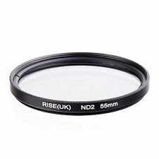 RISE(UK)55​mm Neutral Density ND2 Filter for Canon Nikon Sony Fuji Samsung Lens