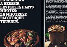 PUBLICITE ADVERTISING 124 1977 TOURNUS la mijoteuse électrique (2 pages)