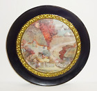 Vintage Brass Decorative Plate Foil Lithography Wall Hanging Made in Holland