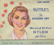 TUTTLE'S VINTAGE  HAIR NET 1940/50''s THE MODERN NET DUPONT