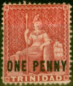 Trinidad 1882 1d Rosy Carmine SG101 Fine Unused