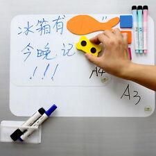 A4 Flexible Fridge Magnetic Whiteboard Memo Reminder Board Pen Eraser Magnet DHG