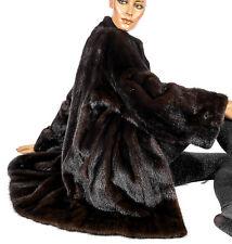 L XL Nerzjacke Dunkel Nerz Jacke Pelzjacke Pelz Visón dark mink fur jacket Fell