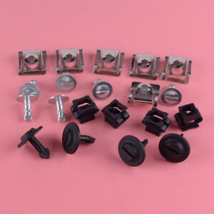 20PC Undertray Guard Engine Under Cover Fixing Clips Screw Fit For AUDI A4 A6 A8
