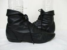 Maine Woods Murphy Black Leather Lace Up Granny Ankle Boots Womens Size 6 M