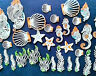 33 MARINE PATTERN CAKE And Cupcakes Toppers Assorted Sizes And Style Edible lace