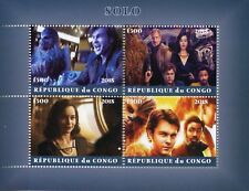 Congo 2018 CTO Han Solo Star Wars Chewbacca Kira 4v M/S Movies Film Stamps