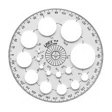 LINEX Transparent 360 Degree 115mm Round Circular Protractor - Made in Denmark