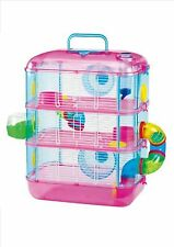 HAMSTER CAGE WITH TUBES 3 TIER - STOREY  PINK ONLY SPECIAL ONE OFF PRICE
