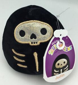 """2021 Kellytoy Squishmallows Halloween 4"""" Skeleton JUDITH Mini Plush NWT"""