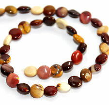 STRAND NATURAL MOOKAITE JASPER COIN BEADS, 10 MM, GEMSTONE MOUKAITE