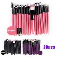 20pcs Pro Makeup Brushes Set Powder Foundation Eyeshadow Eyeliner Lip Brush Kit
