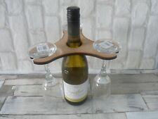 WINE RACK AND GLASSES HOLDER - BUTLER FOR 3 GLASSES - GIFT - BIRTHDAY